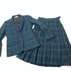 Womens Small Vintage Pendleton Wool Skirt Suit Set